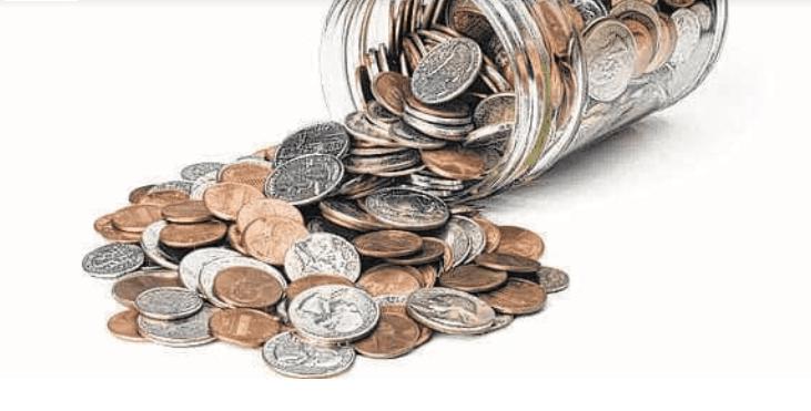 Na obrázku je nedostatek mincí ve federální rezervě