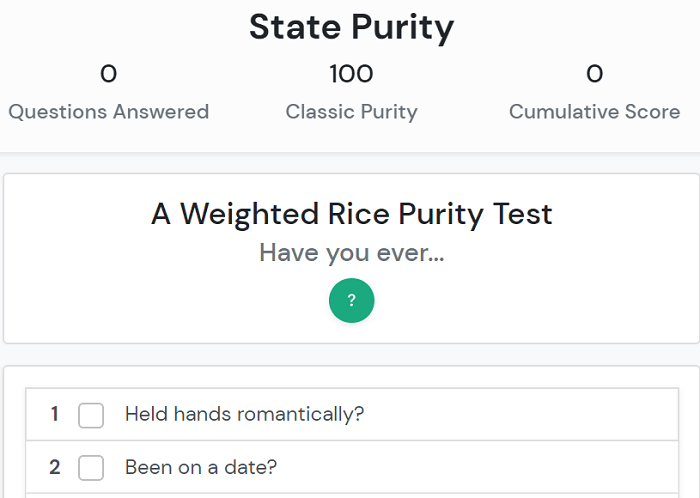 State Purity Test