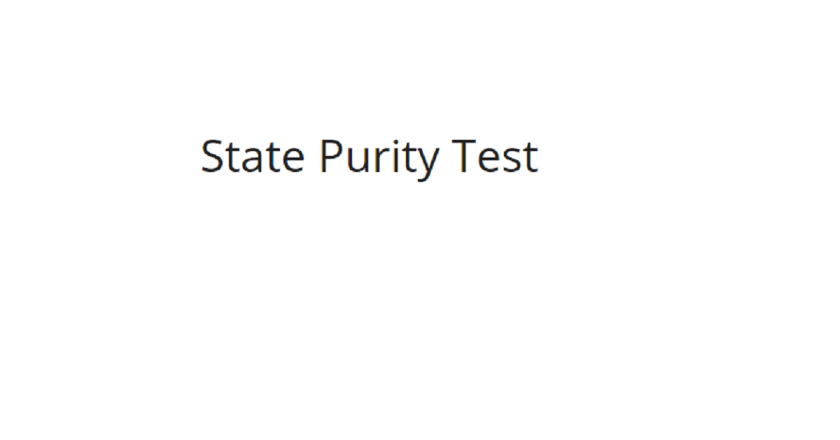 What is State Purity Test
