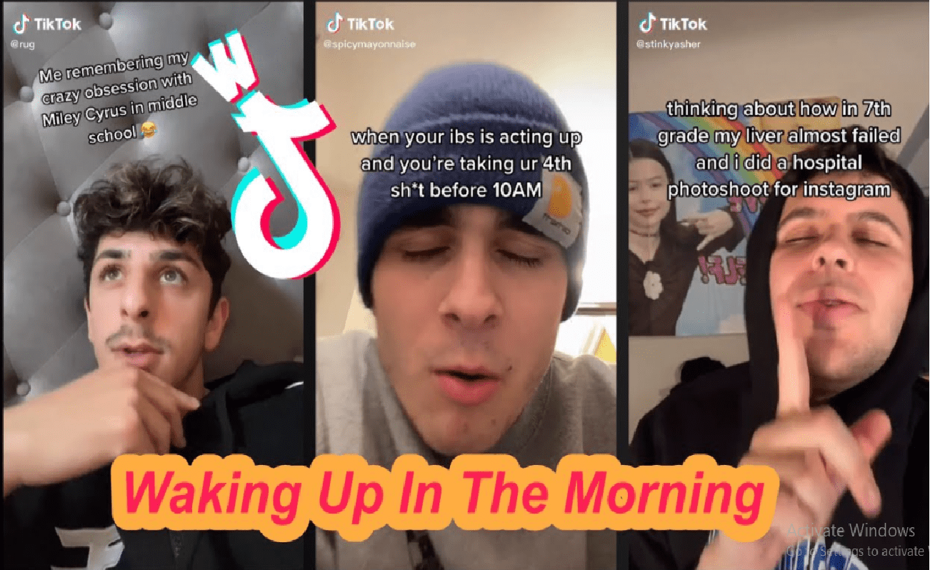 waking up in the morning tiktok