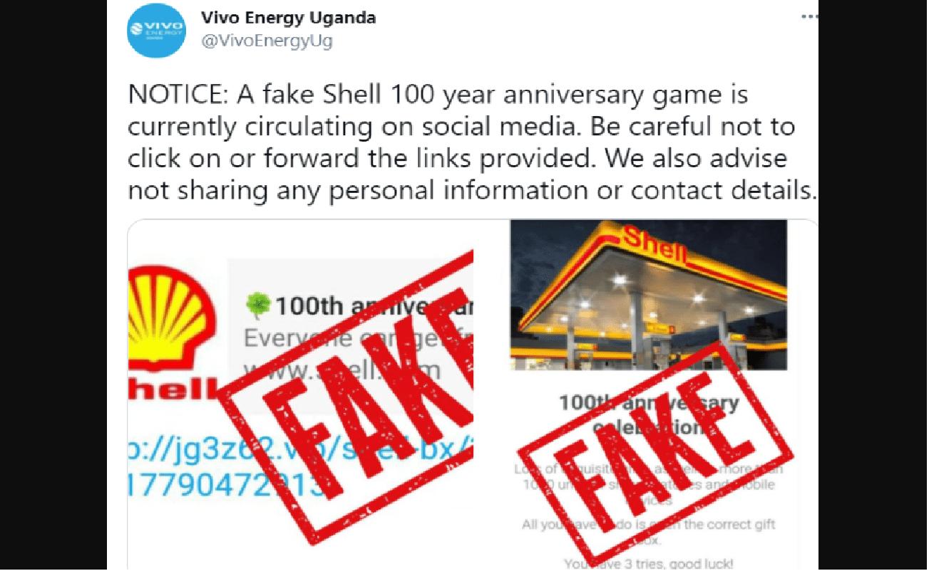 Shell-Betrug zum 130-jährigen Jubiläum