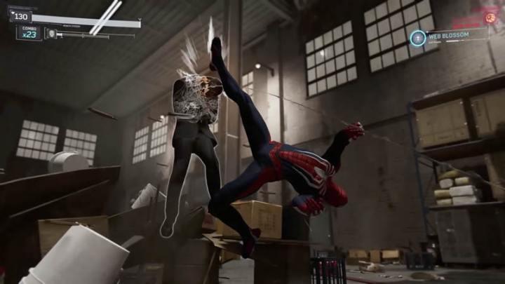 Sistema de combate em Spider-Man