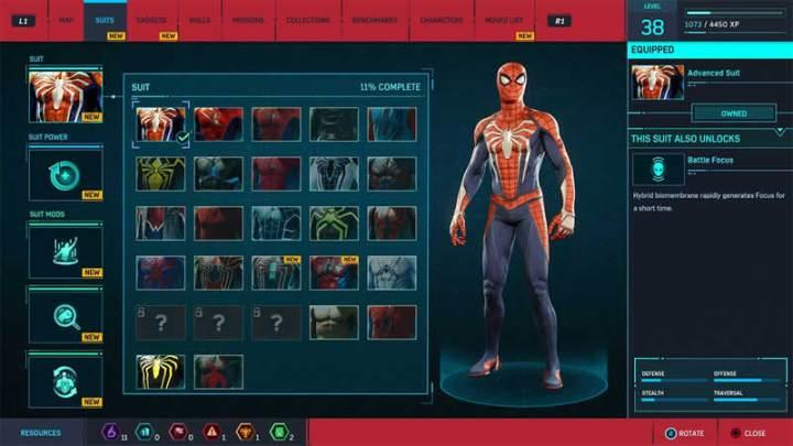 Trajes em Spider-Man
