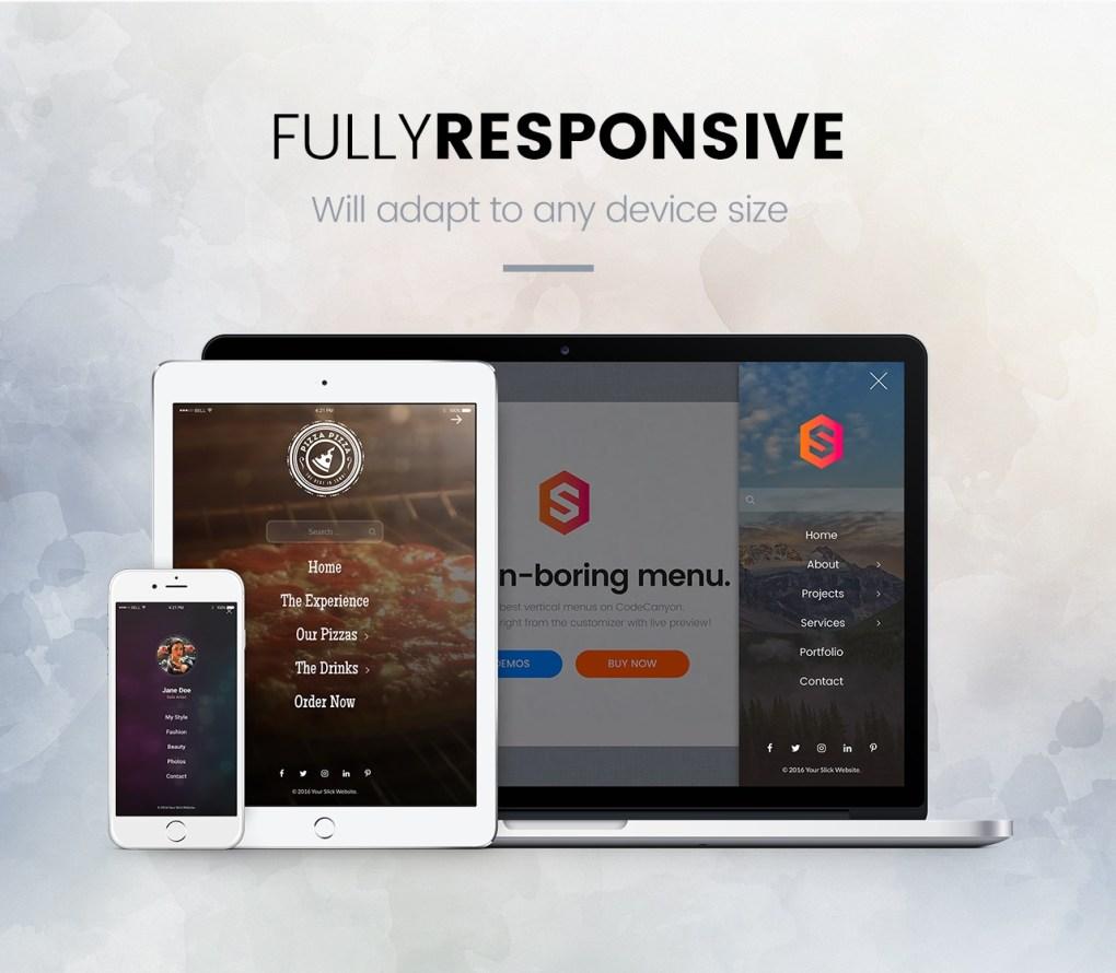 Slick Menu - Responsive WordPress Vertical Menu 3