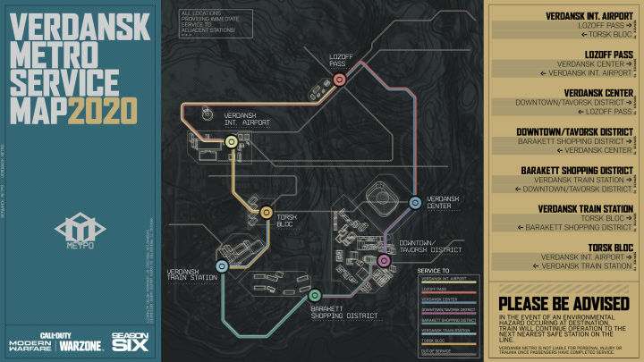 Call of Duty: Warzone Is Getting a Fast-Travel Subway System in Season Six