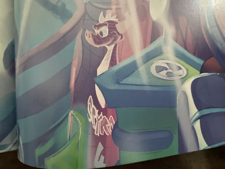 A close-up of the potential Spyro 4 tease in The Art of Crash Bandicoot 4: It's About Time