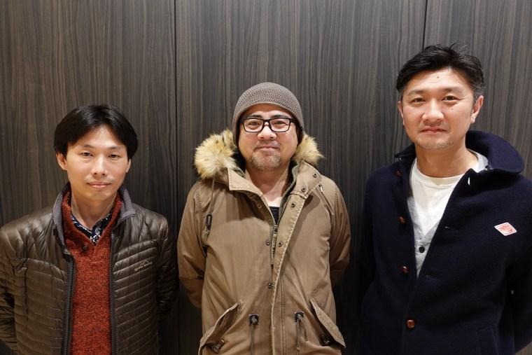 Bokeh Game Studio founders Junya Okura, Keiichiro Toyama, and Kazunobu Sato.
