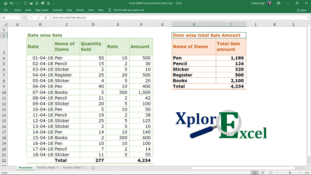 Excel SUMIF Function - Feature Image-min