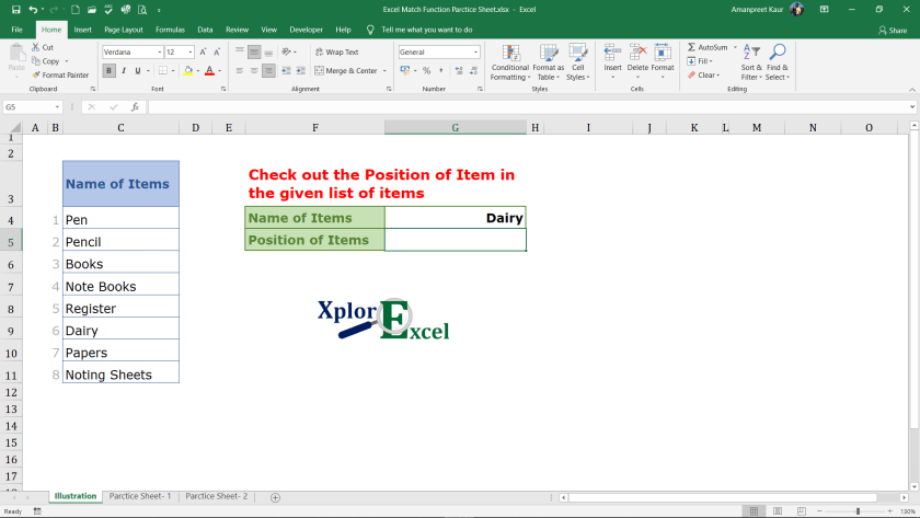 Explanation of Match Function in Excel (1)-min