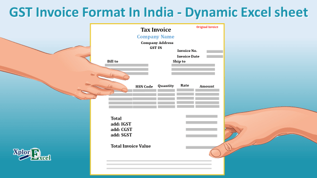 GST Invoice Format 3.0 - Free Dynamic Excel sheet
