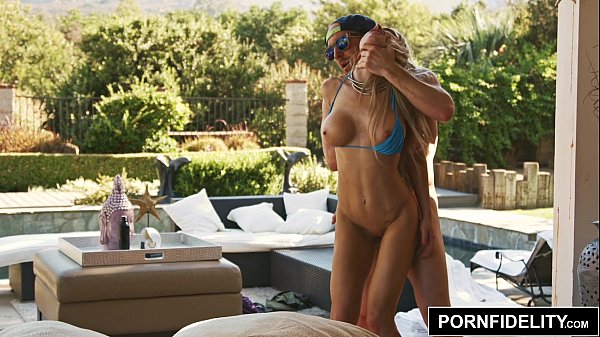 PORNFIDELITY Hot MILF Facialed By the Pool