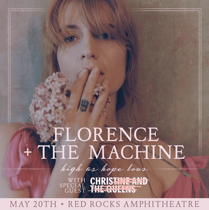 FLORENCE + THE MACHINE  CONFIRM 2019 NORTH AMERICAN DATES