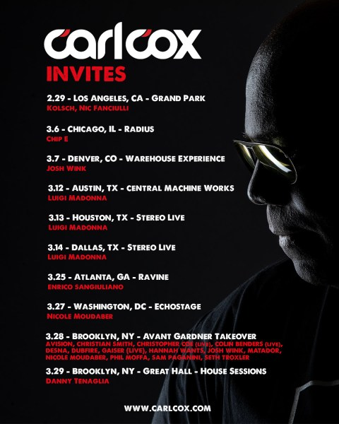 CARL COX ANNOUNCES NORTH AMERICAN TOUR DATES FOR 2020/DENVER SOLD OUT!!