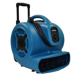 XPOWER P-800H 3/4 HP Air Mover with Telescopic Handle & Wheels
