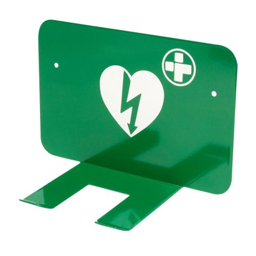 Xpozed - Grönt väggfäste för Physio-Control Lifepak hjärtstartare med väska