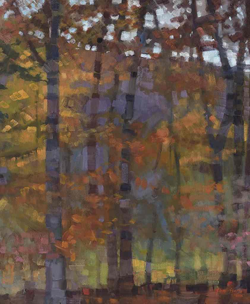 John Harris - Fall Abstraction, 2015 Oil on Linen 24x20