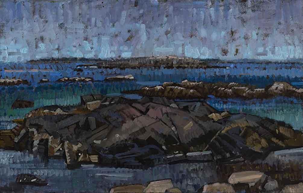 John Harris - Pebble Beach 1999, Oil on Canvas 18x28
