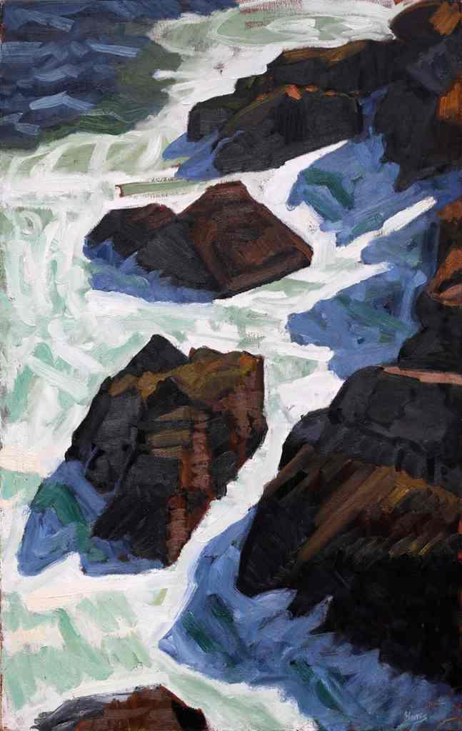 John Harris - Pulpit Rock, 2009 Oil on Canvas 31x20