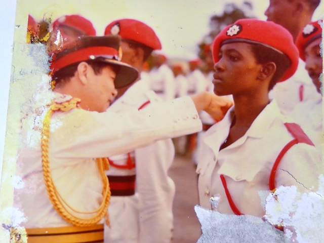 Lt. Verian Mentis,Guyana GDF Female Officers Course 6 1976, army corps history, GDF women's army