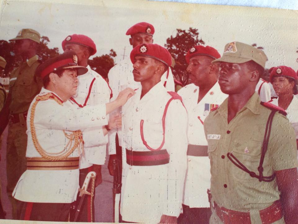 Lt. Joyce Smith, WAC, Commissioning Parade 1976 Guyana , Guyanese, Guyana, GDF, Female Officers, Course 6 1976