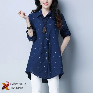 Cotton blue shirt