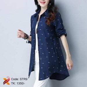 Cotton blue shirt