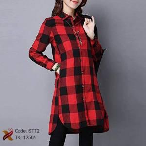 Long Plaid Shirt