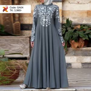 Embroidered Georgette Abaya