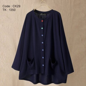 Navy Blue Cotton Top
