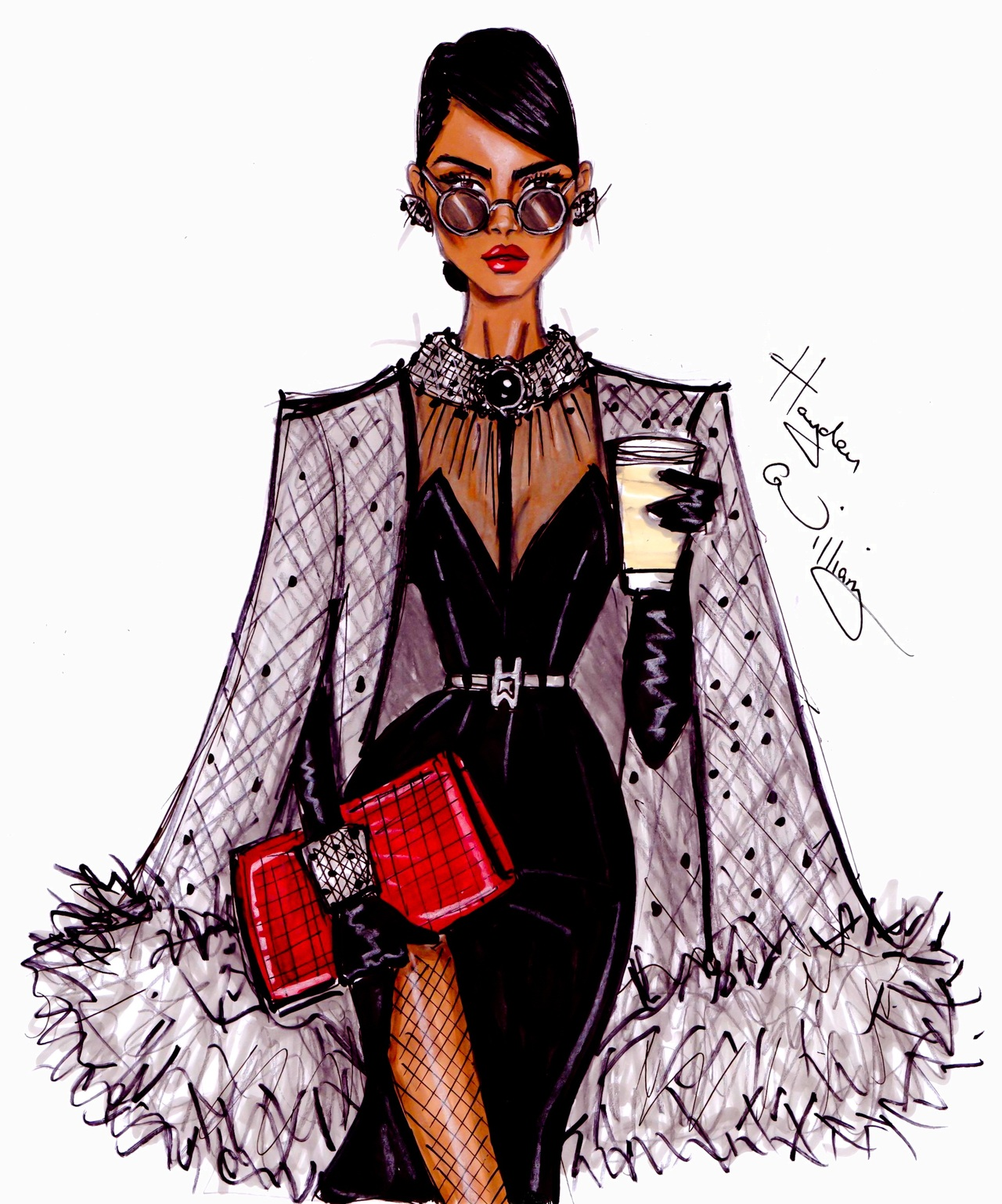 High Fashion And Colored Pencils Hayden Williams