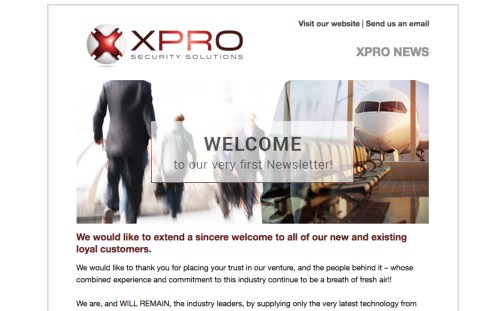 Welcome to the First Xpro SS Newsletter