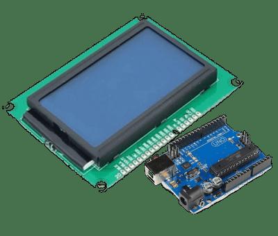 Menu com telas LCD ST7920 - Arduino - XProjetos