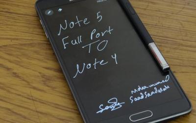روم SIXPERIENCEN5 بمميزات جالكسي نوت5 لجهاز جالكسي نوت4 نسخة N910H/N910C
