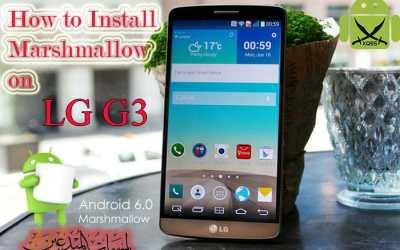 [فيديو] تركيب روم مارشميلو 6.0 لجهاز ال جي جي ثري LG G3 D855 Marshmallow