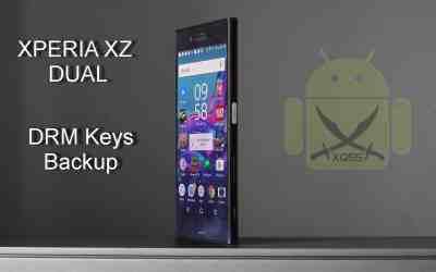 عمل نسخ احتياطي لـ DRM Keys الأصلية قبل فتح البوتلودر XPERIA XZ Dual طراز F8332