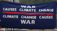 War Causes Climate Change Banner