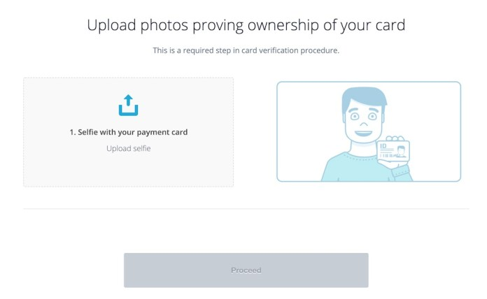 CEX.IO buy XRP with a credit card guide. Credit card verification selfie upload form instructions.