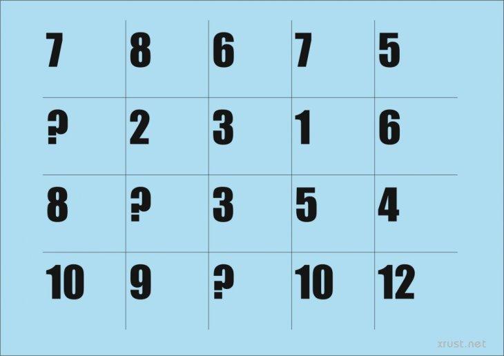 Какие цифры стоят вместо знака вопроса?