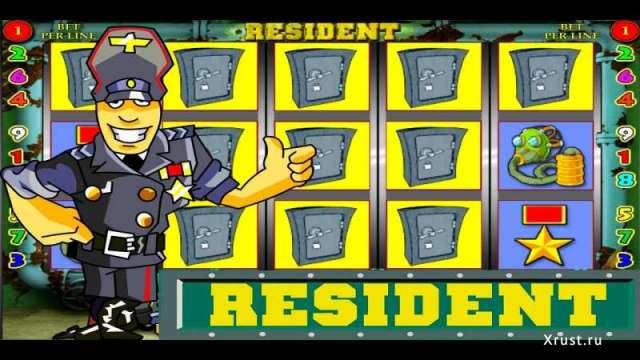Игровой автомат Resident на сайте игровых автоматов Вулкан Платинум