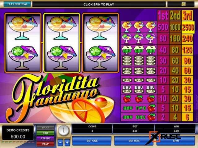 Floridita Fandango. Фруктовый слот в казино Вулкан Платинум