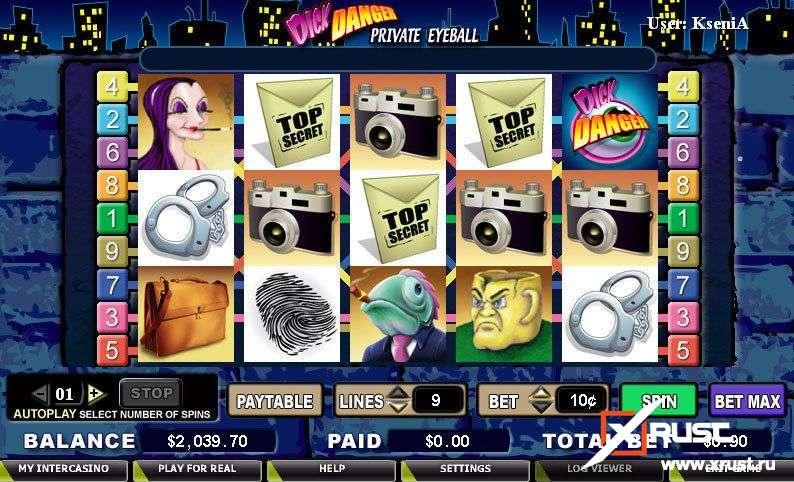 Dick Danger. Новый игровой слот-автомат в казино 777