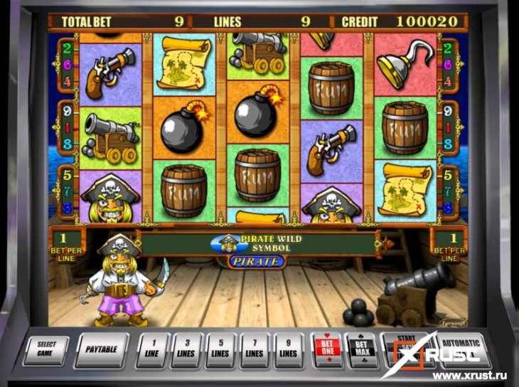 Пиратский игровой автомат на реальные деньги в онлайн казино Слот Клуб