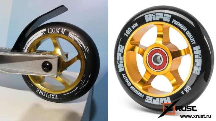 Как выбрать колеса для трюкового самоката?