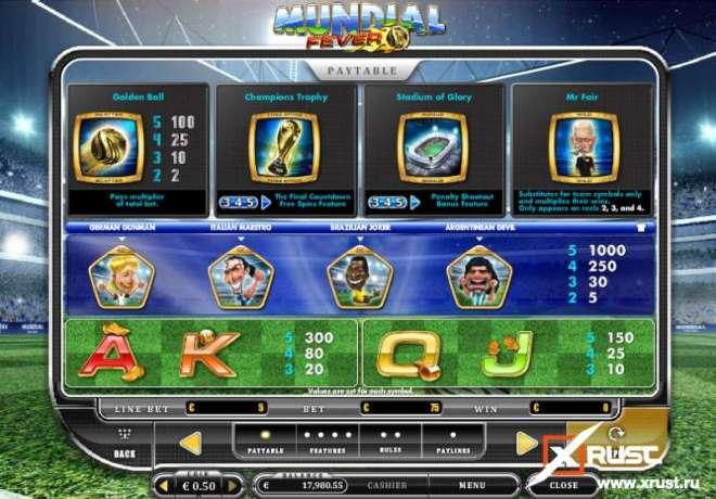 Игровой автомат Mundial Fever