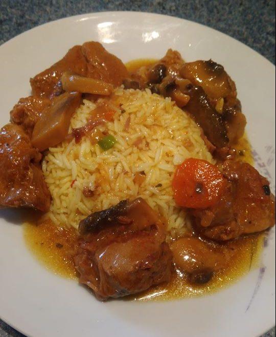 Χοιρινό Λεμονάτο με ρυζι