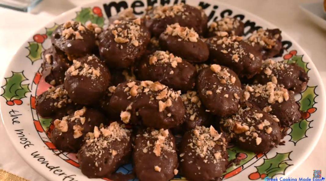 μελομακαρονα σοκολατας