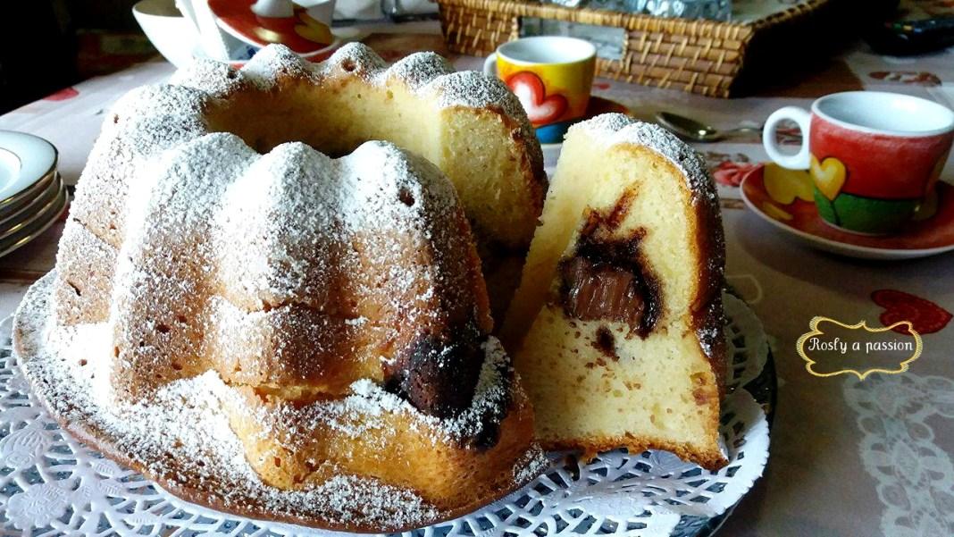 κέικ ρικότα με καρδιά nutella