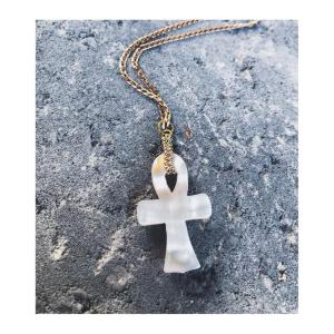 Mother Of Pearl Xrystal Ankh