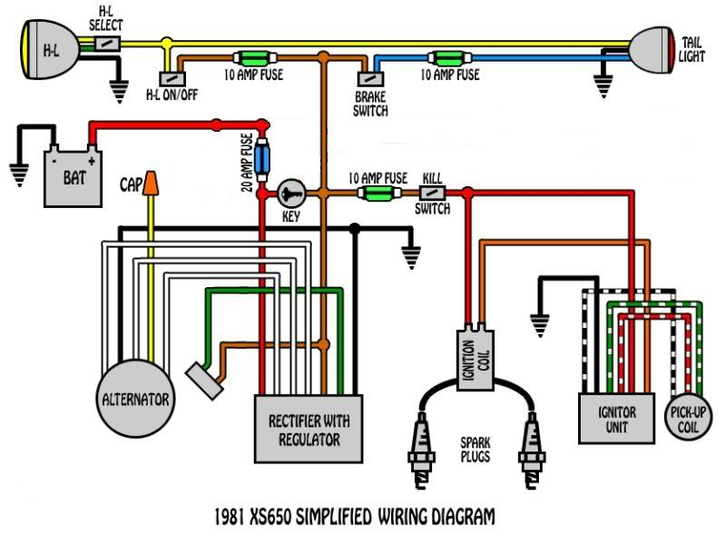 1980 XS650 Alternator/Stator Wiring Questions