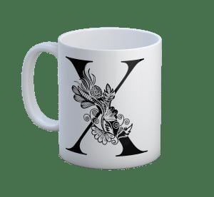 Floral X Mug- straight edge mug